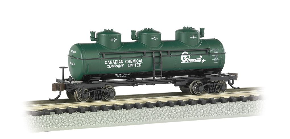 Chemcell - 3-Dome Tank Car