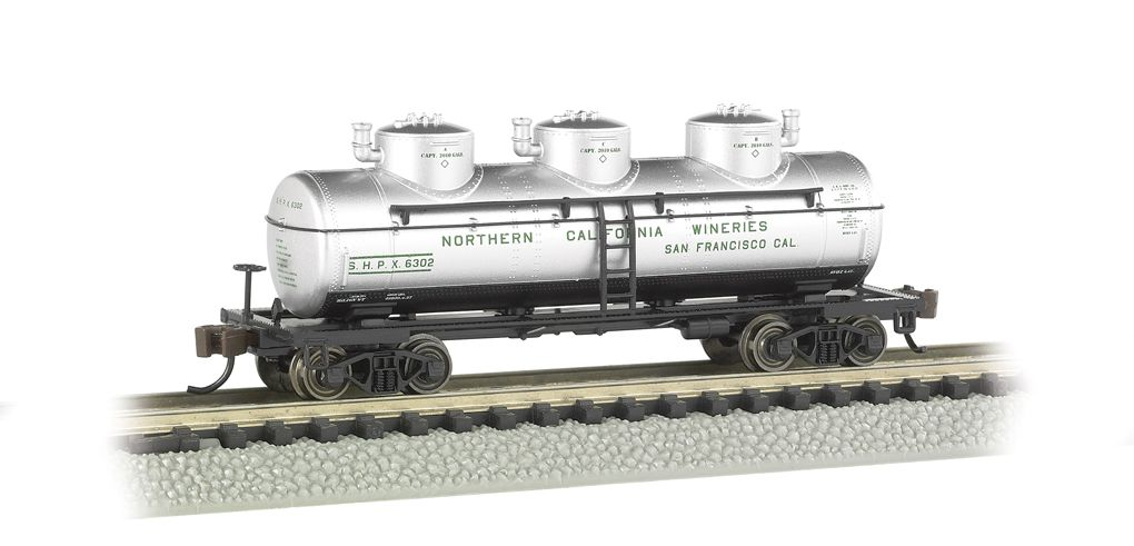 Northern California Wineries - 3-Dome Tank Car
