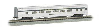 B&O Silver w/ Blue stripe - 85 FT Coach w/ lighted interior