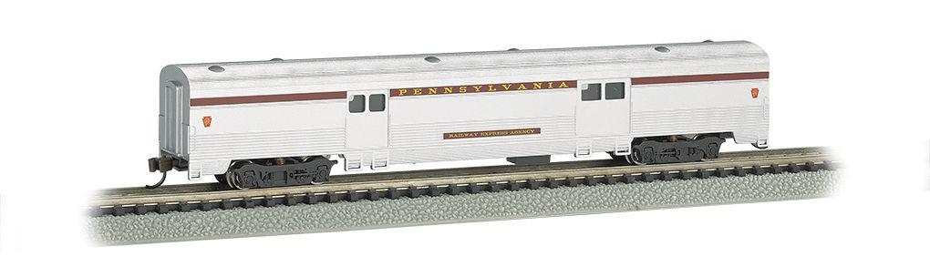 Pennsylvania Silver w/Tuscan Stripe - 72 FT 2-Door Baggage car