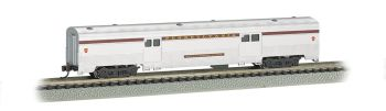 Pennsylvania Silver w/Tuscan Stripe - 72 FT 2-Door Baggage car
