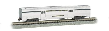 B&O Silver w/ Blue stripe - 72 FT 2-Door Baggage car