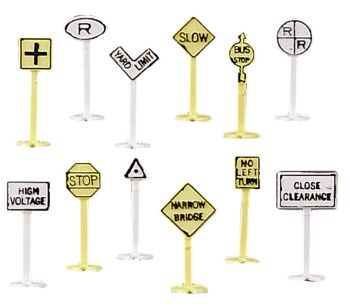 Railroad and Street Signs (24 pieces)