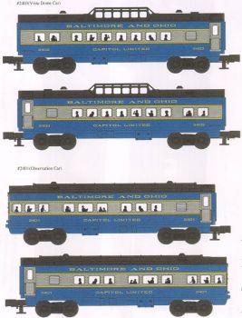 B & 0  GM 027 Streamliners  4pk