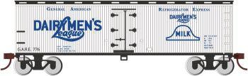 Dairymen's League - 40' Wood-side Refrig Box Car