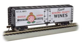 Sonoma County Wines - 40' Wood-side Refrig Box Car