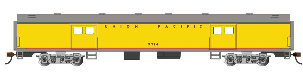 72' Smooth-Side Baggage Cars