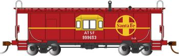 Sante Fe - Bay Window Caboose w/ Roof Walk