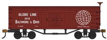 Baltimore & Ohio- Globe Line - Old-time Box Car
