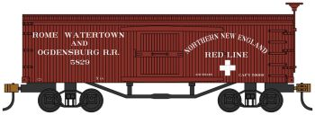 Rome, Watertown and Ogdensburg RR - Old-time Box Car