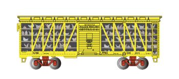 Stentz Palace Poultry Car #5141 - Poultry Transport Car