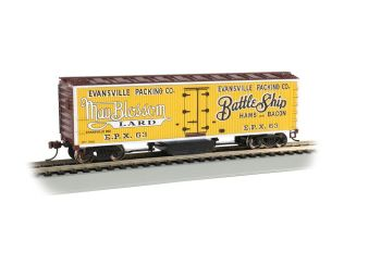 Evansville Packing - Track Cleaning 40' Wood-Side Reefer