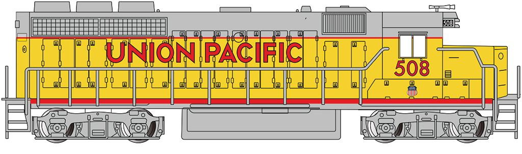 Union Pacific #508 - GP40