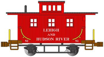 Lehigh & Hudson River #81 - Old-Time Caboose