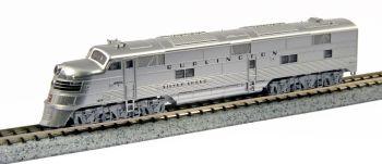 EMD E5A CB&Q #9910A Silver Speed