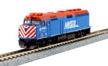 EMD F40PH Chicago Metra #142 Ravinia
