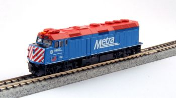 "EMD F40PH Chicago Metra w/ Ditch Lights ""Village of Winfield"" /w pre-installed DCC"