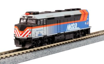 "EMD F40PH Chicago Metra New Paint w/ Ditch Lights ""Village of Schaumburg"" #181w/ pre-installed DCC"