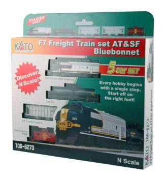 "EMD F7 AT&SF ""Bluebonnet"" Freight Train Set"