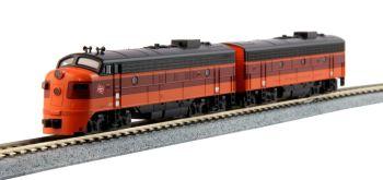 EMD FP7A and F7B Locomotive two-pack FP7A #95A & F7B #95B w/DCC