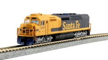 EMD SDP40F Type IVa, AT&SF #5250 Yellow Bonnet