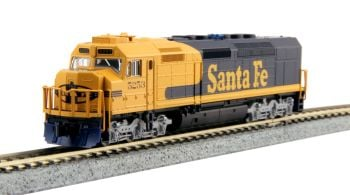 EMD SDP40F Type IVa, AT&SF #5253 Yellow Bonnet w/ DCC Installed