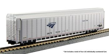 Autorack Amtrak Auto Train 4-Car Set #3 #9206, 9218, 9231, 9243