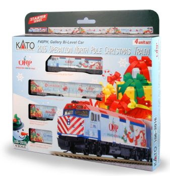 2016 Operation North Pole Christmas Train 4-Unit Set