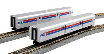 Amtrak Baggage Car phase I 2-car Set #1075 & 1076
