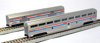 Amtrak Phase III 2-Car Set Step-Down Coach and Baggage Car