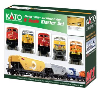 """GE ES44AC """"Gevo"""" and Mixed Freight Starter set - Canadian Pacific"""