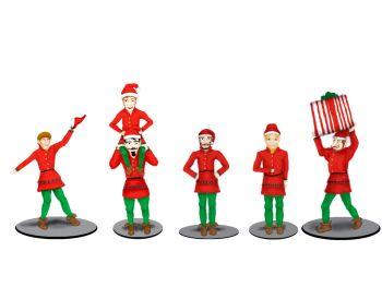 Polar Express Elves Figure Pack/5pc