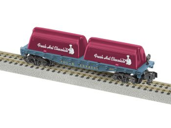 AF POLAR EXPRESS Flat Car with Milk Containers