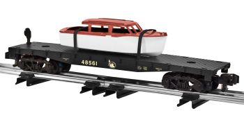 Central New Jersey Flatcar w/ Boat load