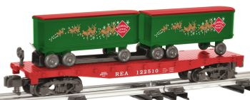 Reindeer Expres Agency Flatcar With Piggyback Trailers