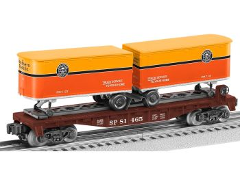 Flatcar with two Piggybacks - Southern Pacific