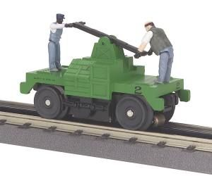 Operating Hand Car - Green Base w/(2) Figures Car - MOW