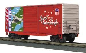 40' High Cube Box Car - Union Pacific (Coast Guard - Spirit of Union Pacific)
