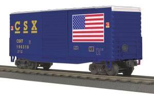 40' High Cube Box Car - CSX (Flag)