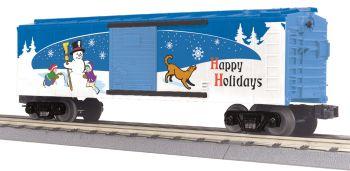 40' Steel BoxCar - Happy Holidays