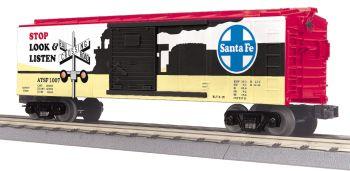 40' Steel BoxCar w/Blinking LEDs - Santa Fe
