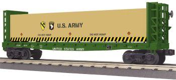 Flat Car - w/Bulkheads & Lumber Load - U.S. Army