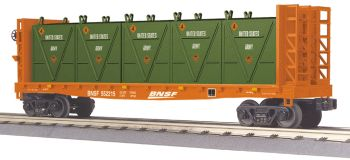 Flat Car - w/Bulkheads & LCL Containers - BNSF