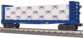 Flat Car - w/Bulkheads & Lumber Load - CSX