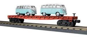 Flat Car w/(2) 'VW Bus - Ilinios Central