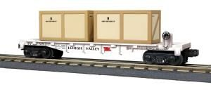Flat Car w/(2) Crates - Lehigh Valley