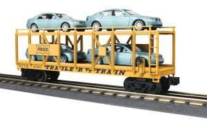 Auto Carrier Flat Car w/(4) BMW 7-Series Sedan - Frisco
