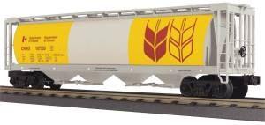 4-Bay Cylindrical Hopper Car - Canadian Wheat