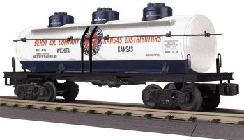 3-Dome Tank Car - Derby Oil Company