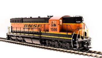 EMD SD9, BNSF 1586, Swoosh Scheme, Paragon3 Sound/DC/DCC
